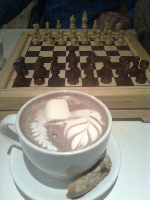 Jeg har spilt sjakk og drukket kakao...